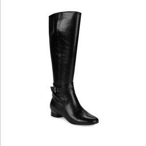 Karl Lagerfeld Paris Tall Black Leather Boots